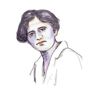 Danica Jovanović, crtež prema arhivskoj fotografiji
