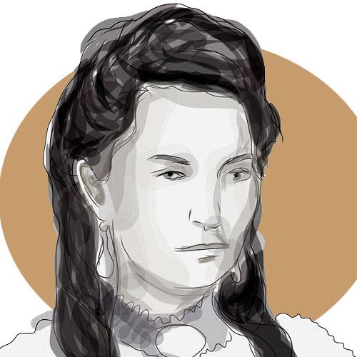 Draga Dejanović, crtež prema fotografiji