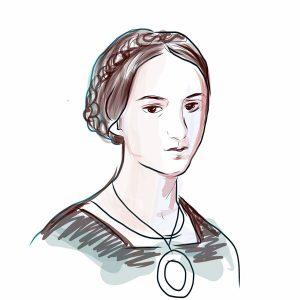 Milica Stojadinović Srkinja, crtež prema arhivskoj fotografiji