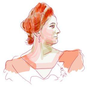 Sultana, Cijuk, crtež prema arhivskoj fotografiji
