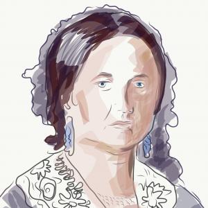 Marija Trandafil, crtež prema portretu